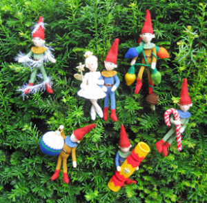 Tree Trimmers knitted toys