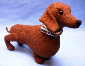 Knitting Pattern Sausage Dog : Dachshund - Alan Dart
