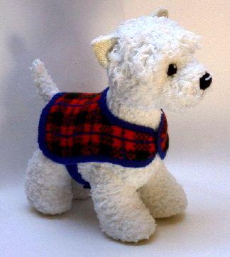 Knitting Pattern Westie Dog : Wesley Westie - Alan Dart Alan Dart