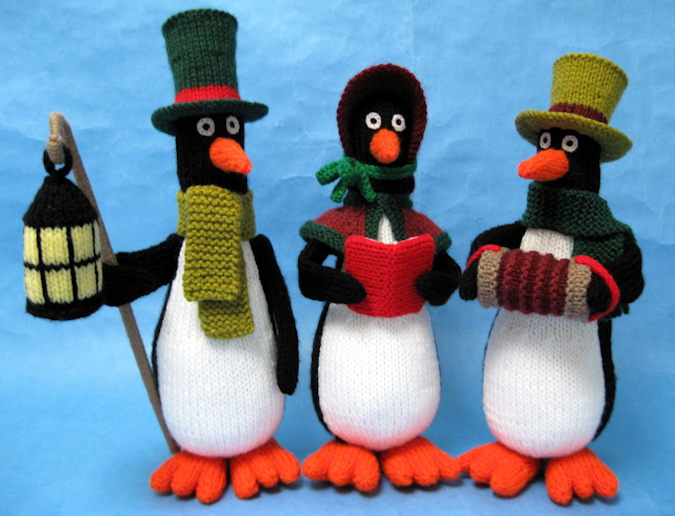 Contemporary Penguin Knitting Pattern Image Collection Sewing