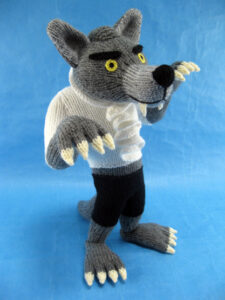 Werewolf knitted toy