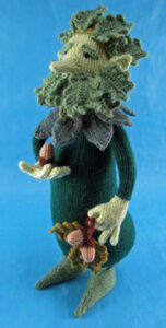 Green Man knitted toy