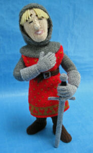 Sir Lancelot knitted toy pattern