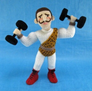 Strong Man knitted toy