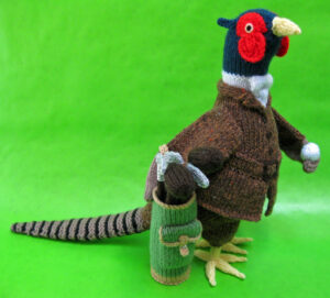 Major Ditherington-Flyte knitted toy