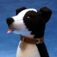 Knitting Pattern For Border Collie Dog : Toy Patterns - Alan Dart Alan Dart